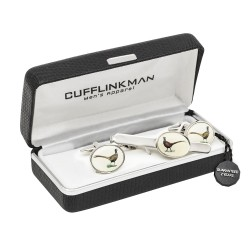 Pheasant Cufflinks and Tie Slide Set