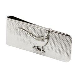 Pheasant Money Clip - Rhodium Plate