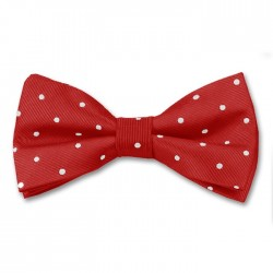 Red and White Spot Bow Tie