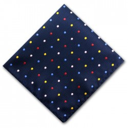 Multi Colour Spot Pocket Square Handkerchief