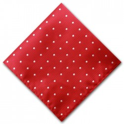 Red and White Spot Pocket Square Handkerchief