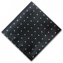 Black and White Spot Pocket Square Handkerchief