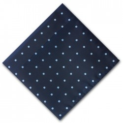 Navy and Blue Spot Pocket Square Handkerchief