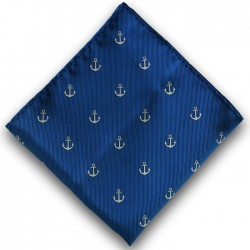 Nautical Navy Pocket Square Handkerchief