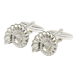 Pewter Ammonite Fossil Cufflinks