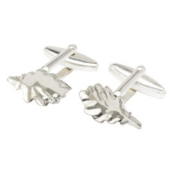 Pewter Oak Leaf Cufflinks