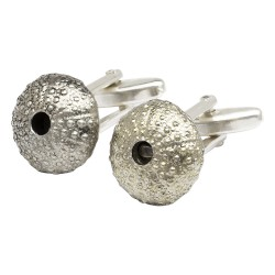 Pewter Kina Sea Urchin Cufflinks