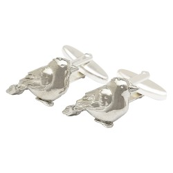 Pewter Gold Finch Bird Cufflinks