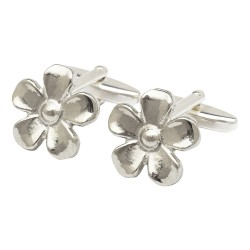 Pewter Daisy Cufflinks