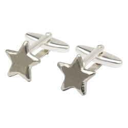 Pewter Star Cufflinks