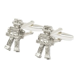 Pewter Robot Cufflinks