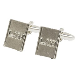 Pewter Law Book Cufflinks