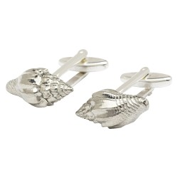 Pewter Brighton Shell Cufflinks