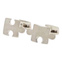 Sterling Silver Jigsaw Piece Cufflinks