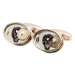 Rose Gold Gears Cufflinks