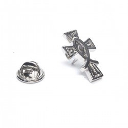 Icthus Christian Cross Lapel Pin