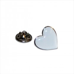 White Heart Lapel Pin
