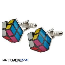 Retro Rubik's Cube Cufflinks