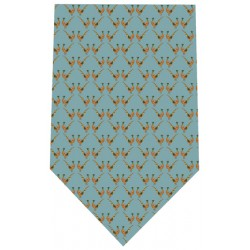 Bryn Parry Pheasants on Blue Silk Tie