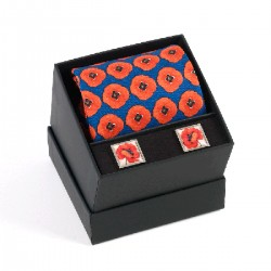 Remembrance Poppy Tie and Cufflinks Boxed Gift Set
