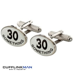 30 Something Birthday Cufflinks