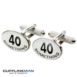 40 Something 40th Birthday Cufflinks