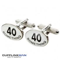 40 Something 40th Birthday Cufflinks