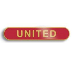 Red United Bar Lapel Badge