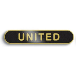 Black United Bar Lapel Badge