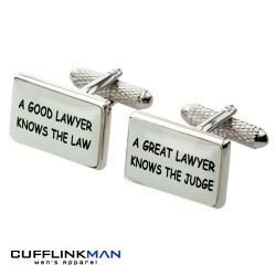 A Great Lawyer Knows The Judge Cufflinks