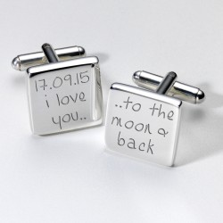 I Love You.......Personalised Cufflinks