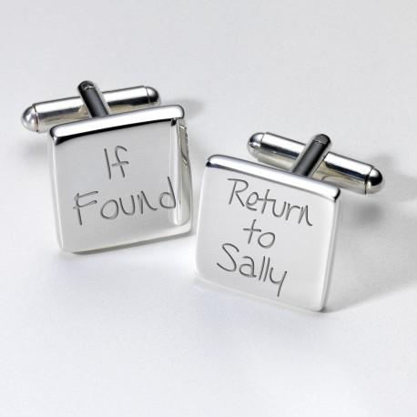 If Found...Personalised Cufflinks