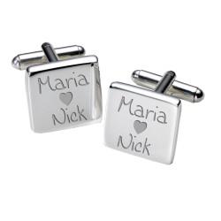 Personalised Loving Couples Cufflinks