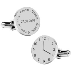 Personalised Groom Wedding Time Cufflinks