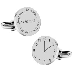 Personalised Best Man Wedding Time Cufflinks