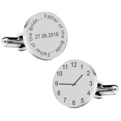Personalised Father of the Bride Wedding Time Cufflinks