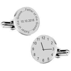 Personalised Father of the Groom Wedding Time Cufflinks