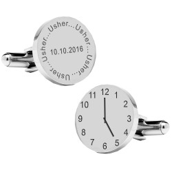 Personalised Usher Wedding Time Cufflinks
