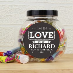 Personalised I'm In Love With Sweet Jar