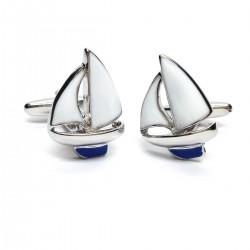 Blue Sailing Boats Cufflinks