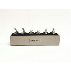 Golf Cufflinks - 3 Pairs Gift Set - By Onyx-Art