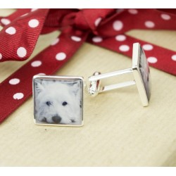 Personalised Dog Photo Cufflinks - Any Photo