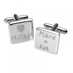 Dates and Names Wedding Cufflinks