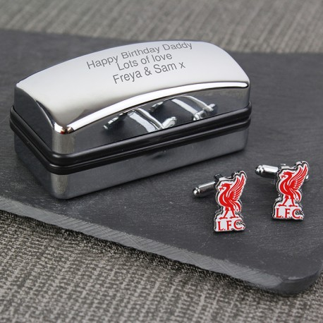 7f4a6b1a734b Cool Football Cufflinks | Liverpool FC Personalised Cufflinks Gift Set