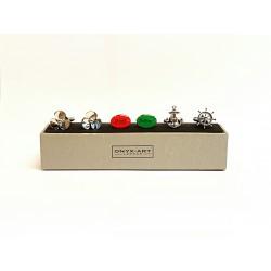 Nautical Cufflinks - 3 Pairs Gift Set - By Onyx-Art