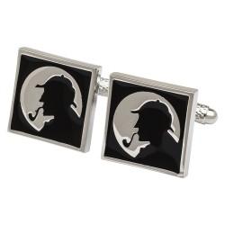 Sherlock Holmes Silhouette Cufflinks