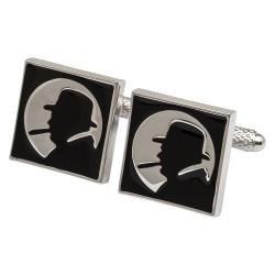 Winston Churchill Silhouette Cufflinks