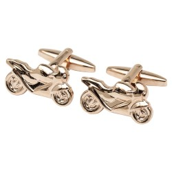 Rose Gold Motorbike Cufflinks