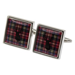 Royal Stewart Tartan Highland Stag Cufflinks