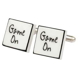 """""""Game On"""" Bone China Cufflinks"""